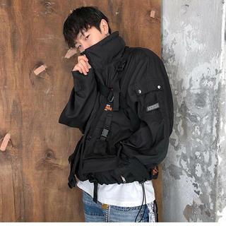 ボウダンショウネンダン(防弾少年団(BTS))のANOTHERYOUTH】windbreaker jacket-black(ナイロンジャケット)