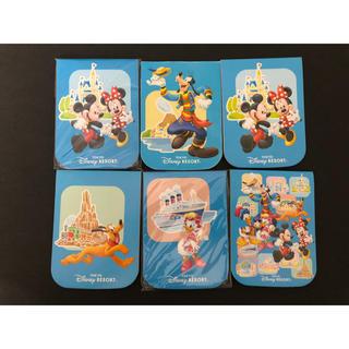 Disney - ディズニー ケース入りメモ 6冊 セット