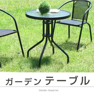 【新品】ガラステーブル パラソル テーブル パラソルベース ガーデン(アウトドアテーブル)