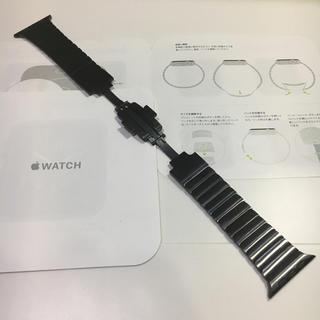 アップルウォッチ(Apple Watch)のアップル純正 ブラックリングブレスレット Apple Watch 42mm 対応(金属ベルト)
