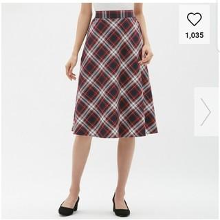 ジーユー(GU)のタータンチェックスカート(ひざ丈スカート)