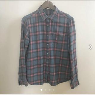 ジーユー(GU)のフランネル チェックシャツ M(シャツ/ブラウス(長袖/七分))