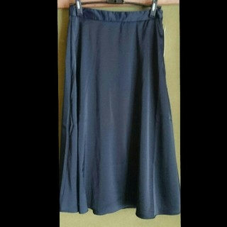 ジーユー(GU)の新品未使用 フレアスカート ネイビー(ひざ丈スカート)