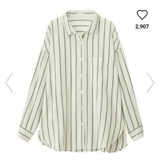 ジーユー(GU)のストライプオーバーサイズシャツ(シャツ/ブラウス(長袖/七分))