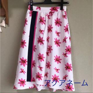 アクアネーム(AquaName)の花柄巻きスカート(ひざ丈スカート)