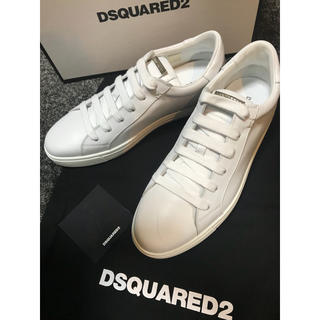 DSQUARED2 - ディースクエアード ホワイトレザー スニーカー