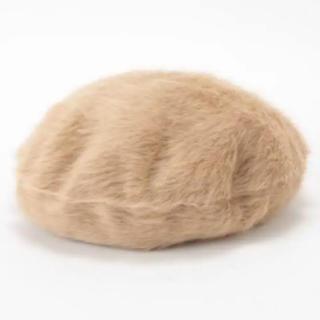 アンバー(Amber)のIENA イエナ ベレー帽 ファー キャメル AMBER オランダ(ハンチング/ベレー帽)