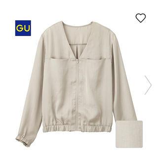 ジーユー(GU)の大人気 完売 GU ジッパーブラウス(シャツ/ブラウス(長袖/七分))