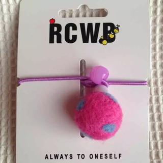 ロデオクラウンズワイドボウル(RODEO CROWNS WIDE BOWL)の新品  ヘアゴム  ロデオクラウンズ RCWB  水玉ボール ピンク(その他)