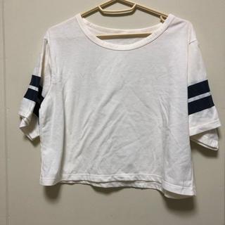 ジーユー(GU)のGU ショート丈トップス(Tシャツ(半袖/袖なし))