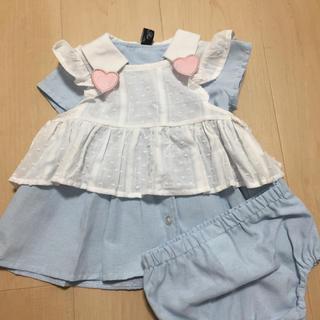ニシマツヤ(西松屋)のアリス風ベビー服70 新品(ワンピース)