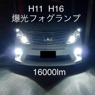 H11/H8/H9/H16共通 16000lmで登場‼️爆光殺人LEDフォグ‼️