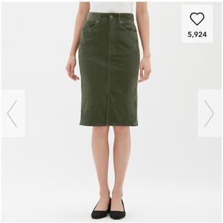 ジーユー(GU)のGU コーデュロイタイトスカートBB / OLIVE (ひざ丈スカート)