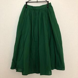 オペークドットクリップ(OPAQUE.CLIP)のグリーンスカート*(ロングスカート)