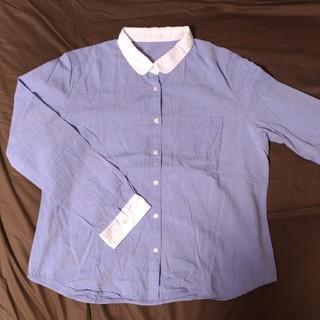 ジーユー(GU)のGU/ラウンドカラーシャツ·ブルー(シャツ/ブラウス(長袖/七分))
