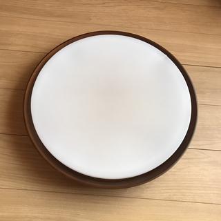 ムジルシリョウヒン(MUJI (無印良品))の無印良品:木製シェードフレームシーリングライト:廃盤商品(天井照明)