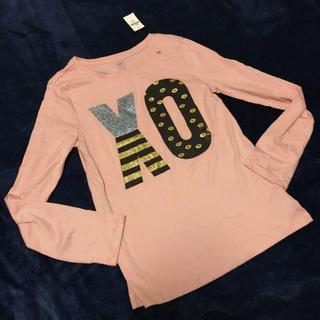 ギャップ(GAP)の160cm◼︎新品! GAP 長袖ロンTシャツ ■ ギャップピンク150(Tシャツ/カットソー)