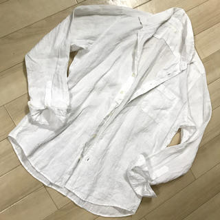 ジーユー(GU)のGU♡コットンリネン♡オーバーサイズ♡シャツ♡美品!(シャツ/ブラウス(長袖/七分))