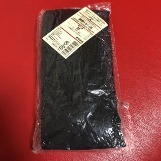 ムジルシリョウヒン(MUJI (無印良品))の☆新品未開封 無印良品 涼感トレンカ ブラック 婦人 M (レギンス/スパッツ)