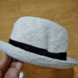 麦わら帽子 ストローハット アイボリー(麦わら帽子/ストローハット)