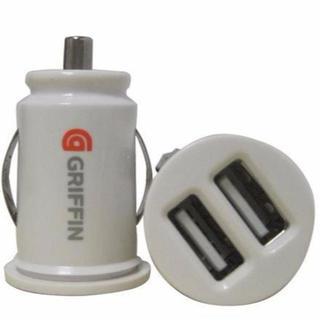 カーチャージャー シガーソケット USB 変換 2ポート 【白】 12V 充電 (その他)