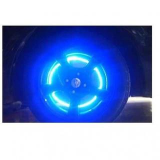 LEDタイヤライト 自動車 バイク 自転車 ブルー4個(車外アクセサリ)
