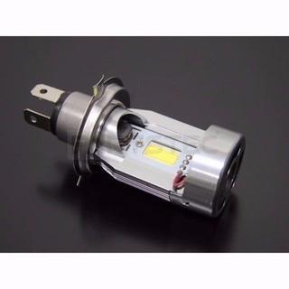 H4 HS1 バイク用LEDヘッドライト LEDバルブ12V 1個 (ホワイト(ステッカー)