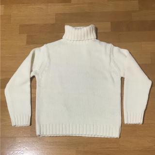 ジーユー(GU)のGU ローゲージ  タートル ネック セーター オフホワイト 長袖 新品未使用品(ニット/セーター)