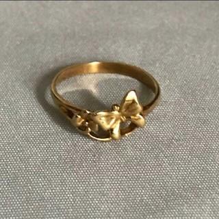 18金のピンキーリングサイズ4号(リング(指輪))