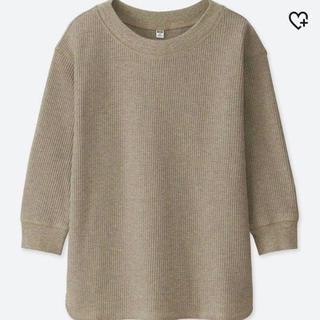 ユニクロ(UNIQLO)のユニクロ ワッフルクールネックT 7分袖(Tシャツ(長袖/七分))