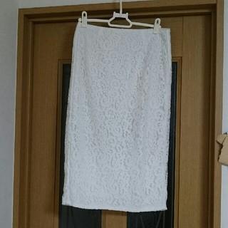 ジーユー(GU)の新品タグ付❤高見え総レース❤きれい目タイトスカート❤ペンシルスカート(ひざ丈スカート)
