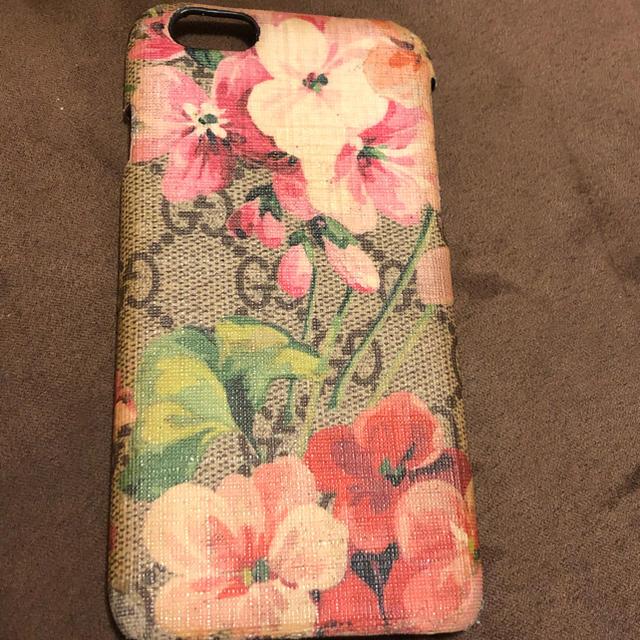 バーバリー iphone8plus ケース 本物 | Gucci - iPhone 6s ケース GUCCI 花柄 中古品の通販 by コーヒー's shop|グッチならラクマ
