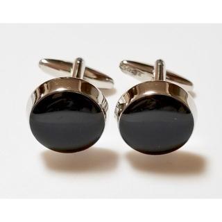 ブラックオニキス シルバー カフス カフスボタン c0005(カフリンクス)