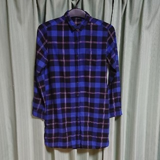ジーユー(GU)のGU ロングチェックシャツ(シャツ/ブラウス(長袖/七分))