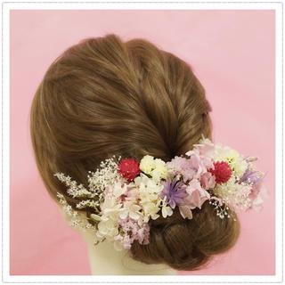 結婚式におすすめ!ドライフラワーとプリザーブドフラワーの華やか可愛い髪飾り(その他)