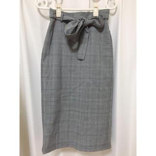ジーユー(GU)のチェックタイトスカート■送料込み GU(ひざ丈スカート)