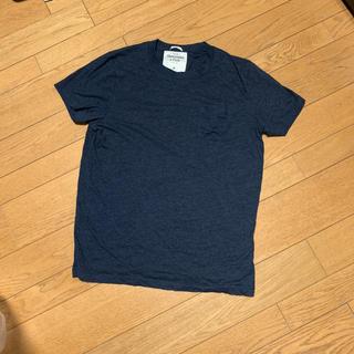 アバクロンビーアンドフィッチ(Abercrombie&Fitch)のabercrombie&fitch Tシャツ ネイビー Mサイズ(Tシャツ/カットソー(半袖/袖なし))