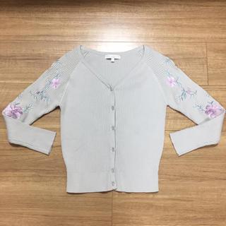 プロポーションボディドレッシング♡刺繍カーディガン