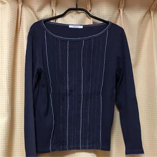 ベルメゾン(ベルメゾン)の長袖デザインTシャツ(ネイビー)(Tシャツ(長袖/七分))