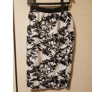 ルシェルブルー(LE CIEL BLEU)の値下げ ルシェルブルーボタニカルスカート(ひざ丈スカート)