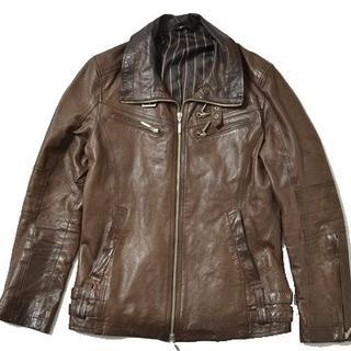 エイエスエム(A.S.M ATELIER SAB MEN)の◆A.S.M◆size50 pigskin leatherJKT brown(レザージャケット)