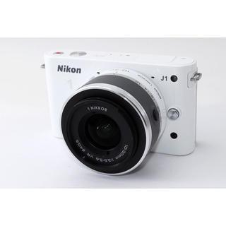ニコン(Nikon)の☆おしゃれホワイト♪WiFi対応☆ニコン J1 手振れ補正レンズキット(ミラーレス一眼)