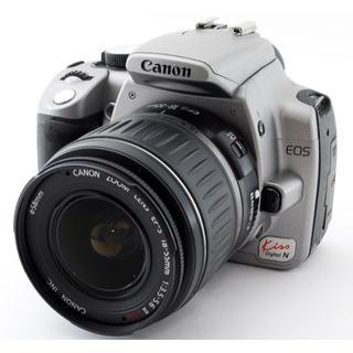 キヤノン(Canon)の❤️スマホに写真を送れる❤️キャノン Kiss N シルバー レンズキット❤️(デジタル一眼)