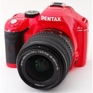 ペンタックス(PENTAX)の❤Wi-Fi&激レアレッド❤PENTAX K-x レンズキット レッド❤(デジタル一眼)