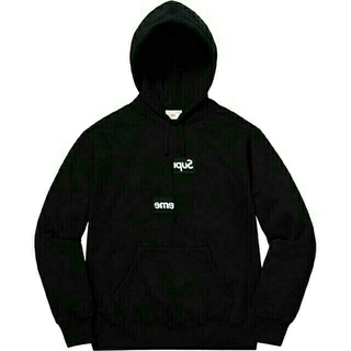Split Box Logo Hooded Sweatshirt