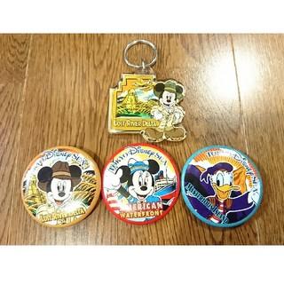 ディズニー(Disney)のディズニーシー★缶バッジ&キーホルダー(キャラクターグッズ)