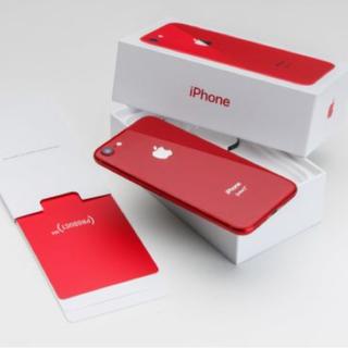 アップル(Apple)のiPhone8 au 64G RED «新品、未開封»(スマートフォン本体)