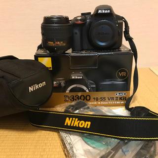 ニコン(Nikon)のNikon D3300 レンズキット カメラケース付き(デジタル一眼)