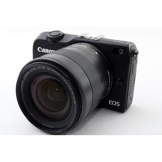 キヤノン(Canon)の★WiFi & タッチパネル★キャノン EOS M2 ブラック レンズキット(ミラーレス一眼)
