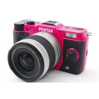 ペンタックス(PENTAX)の☆WiFi対応☆ペンタックス Q10 チェリーピンク×ブラック レンズキット(ミラーレス一眼)